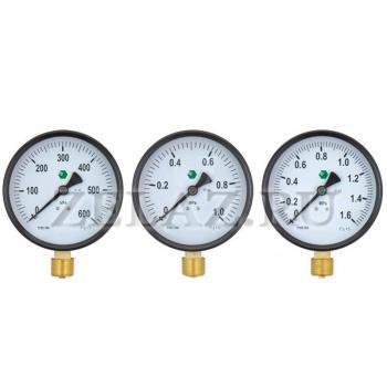 Манометр 10 МПа (100 бар)  100мм; М20х1,5 - фото